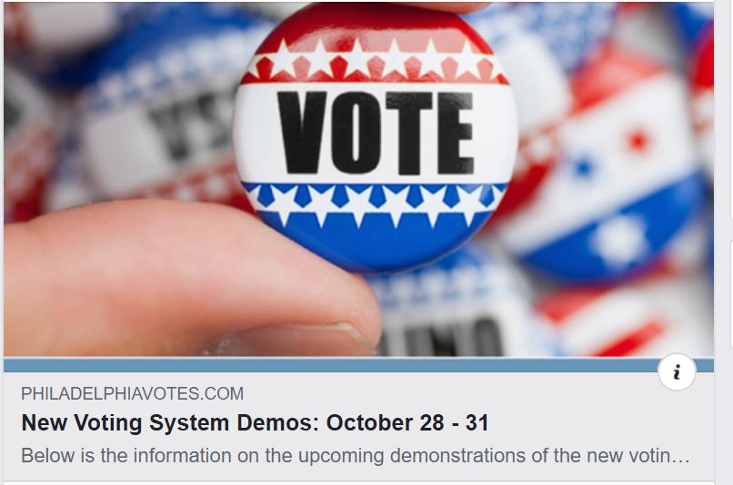 Voting Machine Demo End of Oct