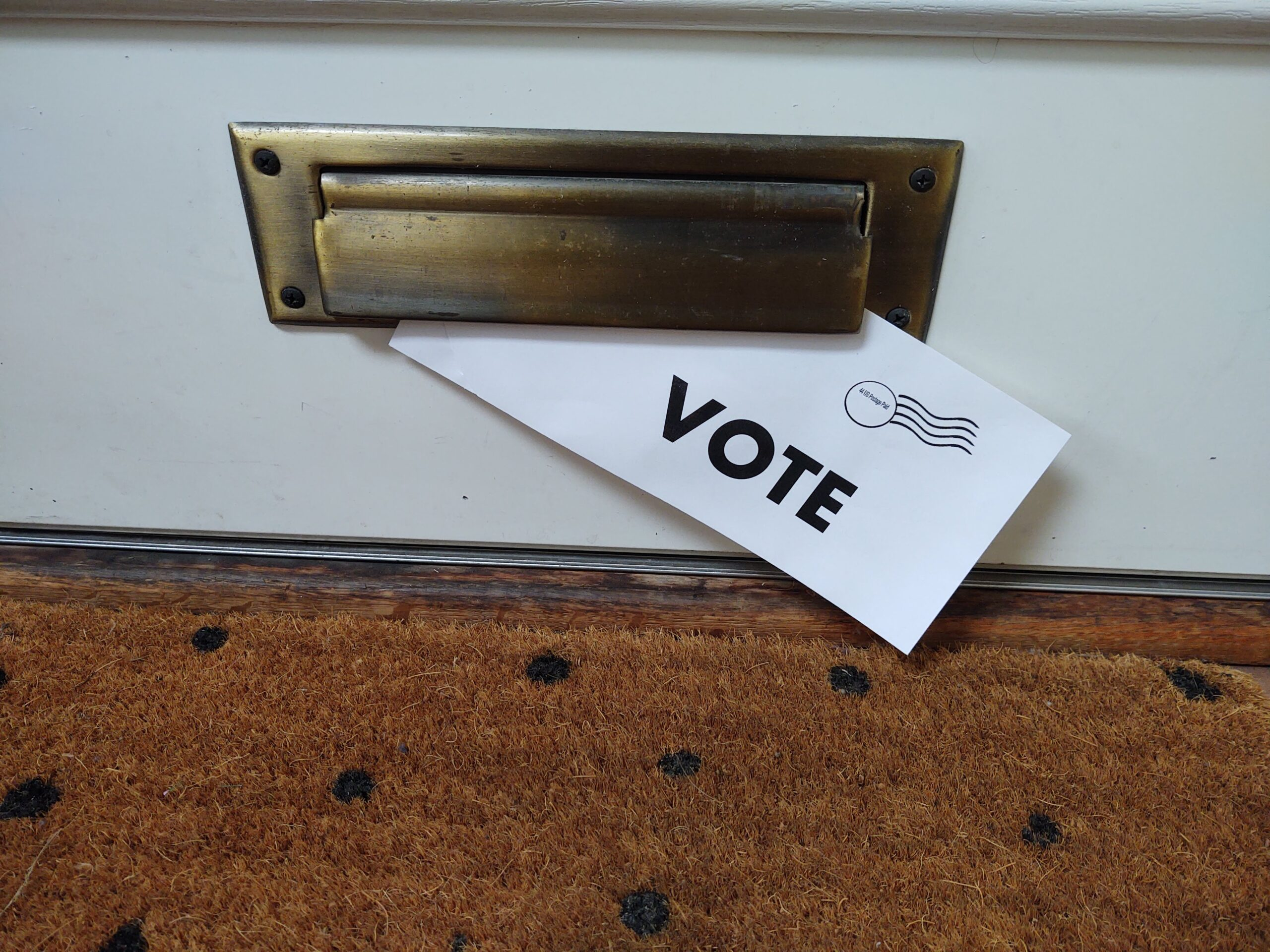 Picture Vote Evelope in Mail Slot