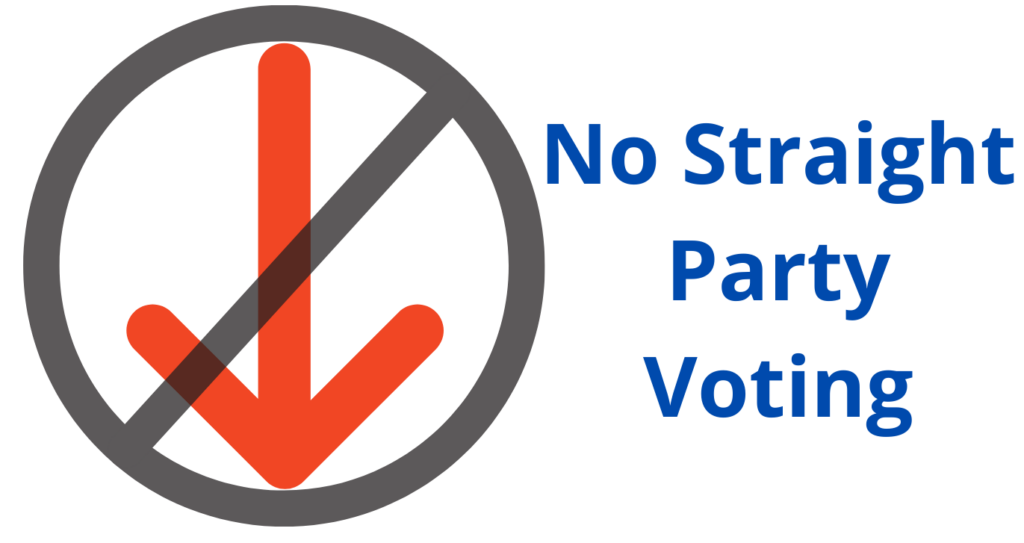 No Straight Party Voting II