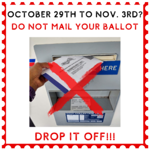 Don't mail your ballot